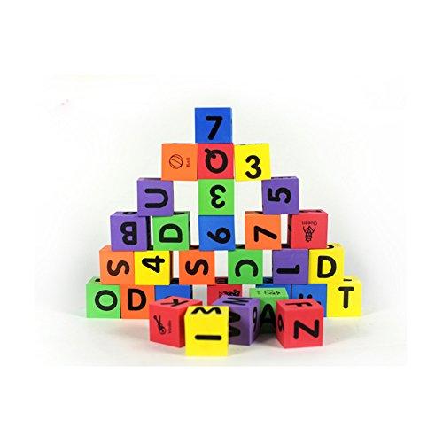 MOBU Eva Foam Building Blocks 30 Pcs Soft Alphabet Blocks (ABC) Numbers Blocks (123) Animal Multi-colored Child's Cognitive Preschool Educational Toys by MOBU (Image #1)