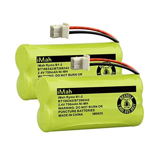 iMah Ryme B1-2 BT166342 BT266342 BT183342 BT283342 Cordless Phone Batteries Compatible with Vtech CS6114 CS6429 CS6719-2 AT&T EL52100 EL51203 Handset Telephone (Pack of 2) (Battery Phone Cordless Bt283342)