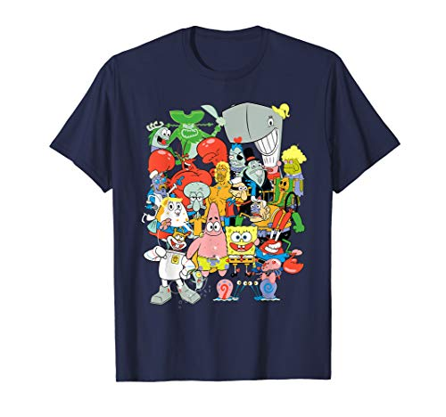 (Spongebob Squarepants Cast Of Characters T-Shirt)
