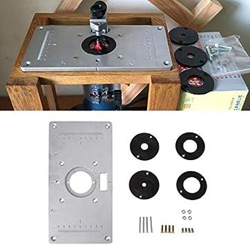 Harddo Router - Tablero de mesa de aluminio 700C con 4 anillas y ...