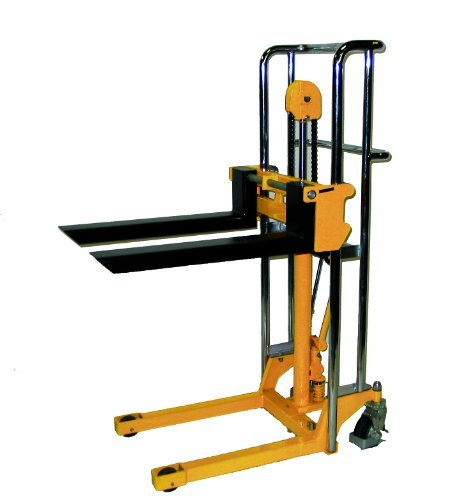 Wesco 272941 Value Lift with Handle, Polyurethane Wheels, 880-lb. Load Capacity, 59' Lift Height, 22-1/2' x 37' x 70'