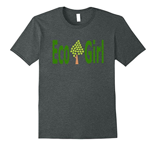 Mens Eco Girl Ecology Environment Biology T-Shirt Tee 2XL Dark Heather (Eco Kids Heather)