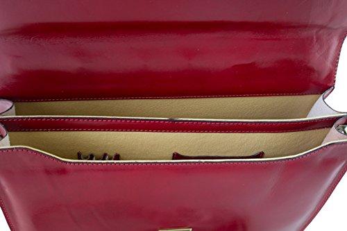 Pelle Rosso amp; Pelletteria Borsa Uomo G wqzCZY8x