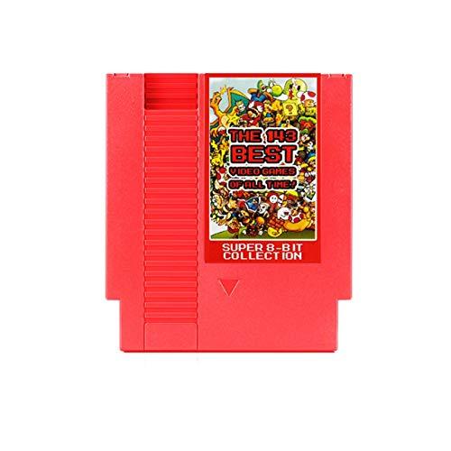 WOSOSYEYO 143-in-1 8 bits 72 Pernos de vídeo Juego de Cartas con función de Memoria para NES Consola (Color: Rojo)