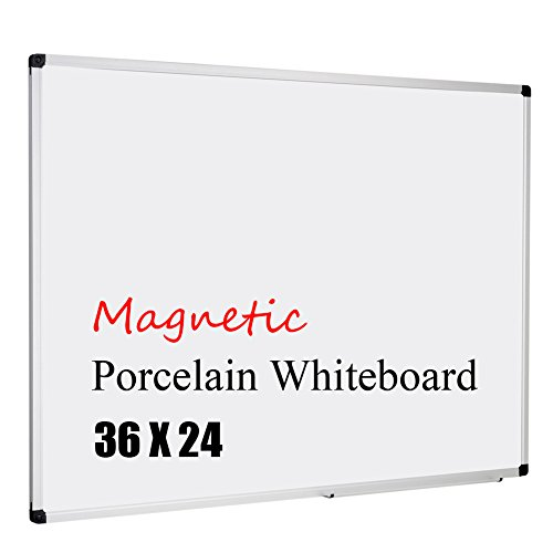 XBoard Porcelain Magnetic Dry Erase Board with Aluminum Frame, 36 x 24 Inch Whiteboard for Home, Office and - 3 X 2 Porcelain