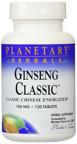 (Planetary Herbals Ginseng Classic Tablets, 120 Count by Planetary Herbals)