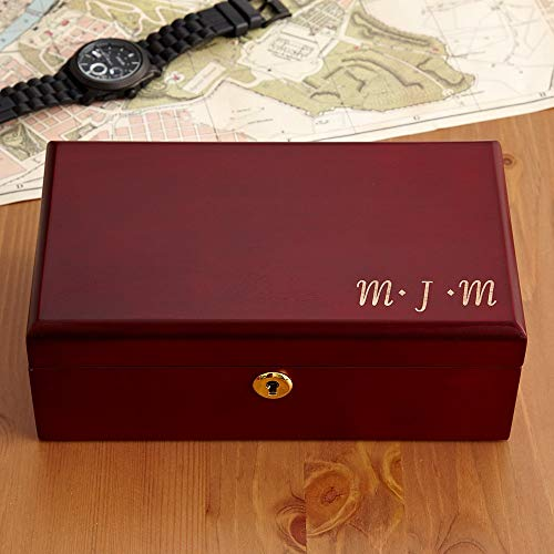 Personal Creations - Personalized Gifts Engraved Wooden Valet Keepsake Box