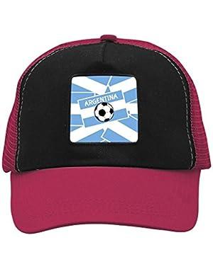 Argentina Football 2018 Creative Baseball Cap Shade Fashion Unisex Grid Cap for Women Men