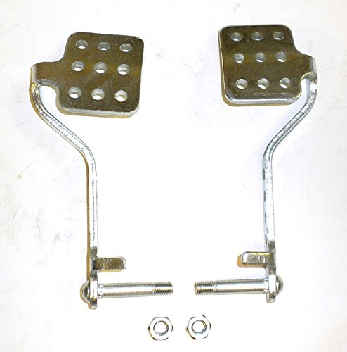 Go Kart Brake & Throttle Pedals With Lock Nuts (Pedal Kart Go Gas)