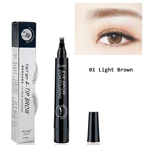 Lapis Enhancer Pendant - 4 Fork Tip Fine Sketch Enhancer Eyebrow Tattoo Pen Waterproof Microblading Eyebrow Tattoo Tint Henna Eyebrow Gel Makeup suake 01