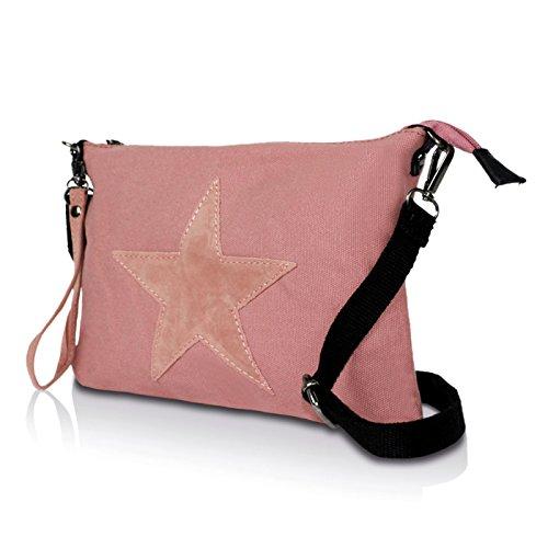 estrellas umhaengetasche Rosa con Bolso glamexx24 Bolsa nbsp;Mujer UxqBq0Iw