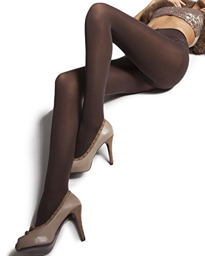Levante Super Matte Breathable Opaque Tights with Control Top carbone medium