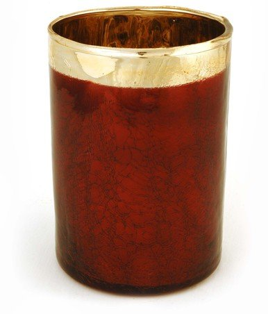 ass Candle Holder with Gold Rim and Reflective Interior for Home Decor and Displaying ()