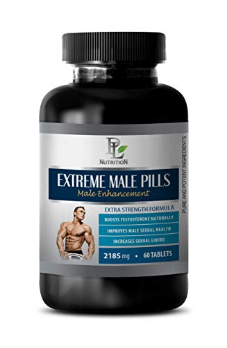 Male Enhancement Enlargement Pills - Male Enhancing Pills Increase Size and Girth - Extreme Male Pills 2185 Mg - Male Enhancement Formula - tribulus Herbal Supplements - 1 Bottle 60 Tablets