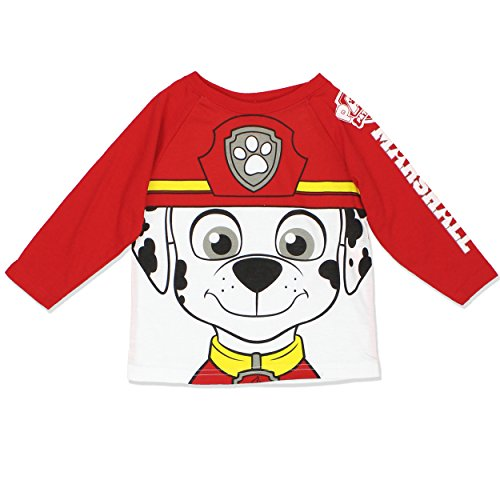 Paw Patrol Marshall Chase Toddler Boys and Girls Tee Shirt (4T, Marshall LS)
