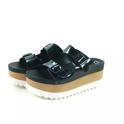 tacco dimensioni estate scarpe 34 A Slope Colore Pantofole opzionali 2 pantofole tavolo da All'aperto dimensioni pantofole moda opzionali A a colori spesse con impermeabile ZZHF indossare alto 7IS4Eq4w