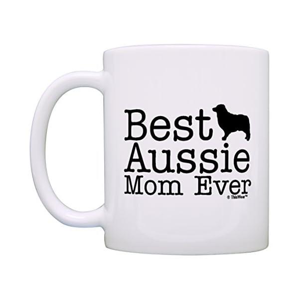 Australian Shepherd Gifts Best Aussie Mom and Dad Ever Australian Shepherd 2 Pack Gift Coffee Mugs Tea Cups White 2