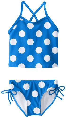 Kanu Surf Baby Girls' Beachball Tankini, Blue, 18 Months (Beachballs Com)