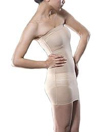 4590505471 Valentina Womens Strapless Full Body Slip Shaper Seamless Smoother Tube  Slip Under Dresses Hot Comfortable Bodyshaper