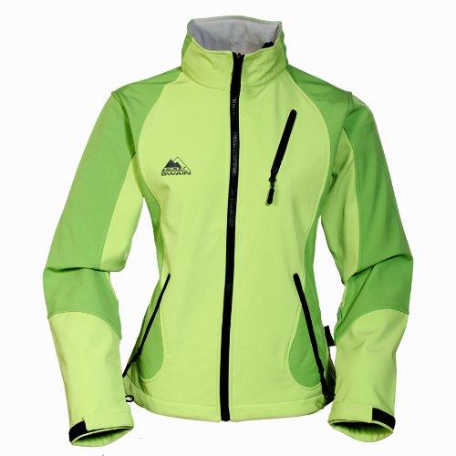 COX SWAIN TITANIUM 3-Lagen Damen Softshell Jacke FOREST - 15.000mm Wassersäule 10.000mm atmungsaktiv, Farbe: Grey/Black, Größe: L