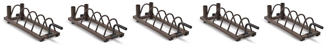 Steelbody Horizontal Plate and Olympic Bar Rack Organizer with Steel Frame and Transport Wheels STB-0130 (5-(Pack))