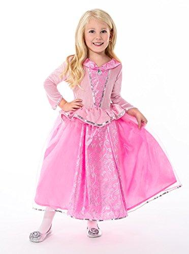 Little Adventures 5 Star Sleeping Beauty Girls Princess Costume - One-Size (3-6 Yrs)