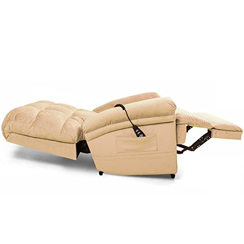 The Perfect Sleep Chair - Lift Chair & Medical Recliner – DuraLux II Microfiber - Cashmere (Tan) by Perfect Sleep Chair