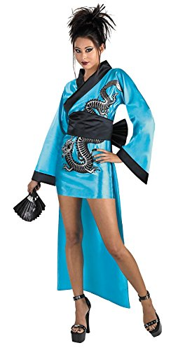 [UHC Women's Asian Sexy Dragon Geisha Adults Theme Party Halloween Costume , One Size (12-14)] (Halloween Costumes Asian)