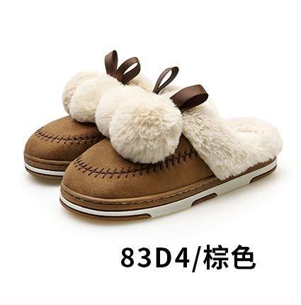 Moda Da Suola Cotone Donna Con Di Autunno Femminile Usura Marrone inverno nuove Baotou Xiaogege Spessa Antiscivolo Scarpe 7TwFI