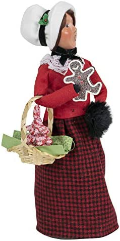 Byers Choice Gingerbread Woman Caroler Figurine from The Christmas Market Collection 4461E New 2019
