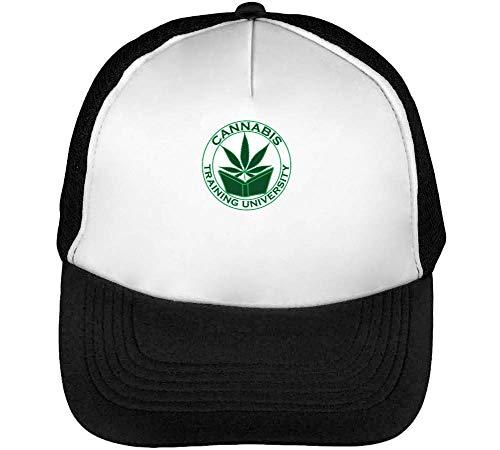Beisbol Gorras Cannabis Blanco Hombre Negro Training University Snapback 6AFwFWq7H1