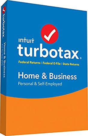 TurboTax Home & Business 2016 Tax Software Federal & State + Fed Efile PC/MAC Disc  [Amazon Exclusive]