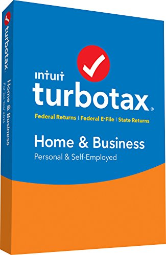 Software (TurboTax Home & Business 2016 Tax Software Federal & State + Fed Efile PC/MAC Disc  [Amazon)