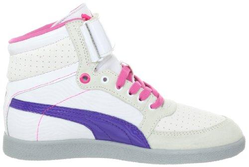 Zapato Puma Skylaa mediana Pz White/Liberty Blue/Fluorescent Pink