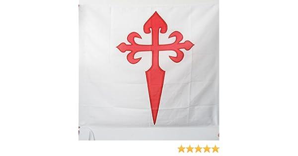 AZ FLAG Bandera de la Orden DE Santiago 90x90cm para Palo - Bandera Ejercito DE Francia 90 x 90 cm: Amazon.es: Jardín