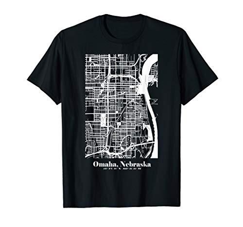 Omaha Nebraska Street Map Urban Art ()