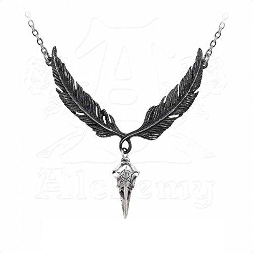 Alchemy Corvus Corax Gothic Rabe Anhänger Collier Rabenschädel Batcave