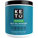 Perfect Keto Matcha Green Tea: Ketogenic Fat Butter Coffee Alternative w Coconut Oil MCT. Ketone Energy on Ketosis Diet Organic Ceremonial Grade Japanese Matcha Latte Powder