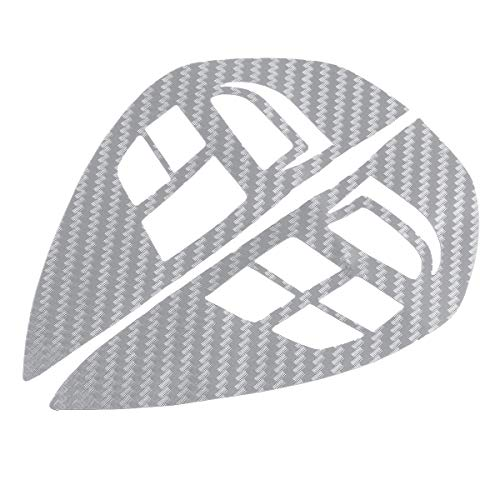 Star-Trade-Inc - Steering Wheel Control Switch Audio Cruise Button Sticker Carbon Fiber Cover Trim for Mitsubishi ASX Lancer Outlander RVR ()