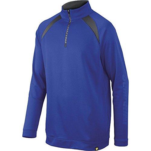 (DeMarini Men's 1/2 Zip Heater Fleece Jacket, Royal, Medium)