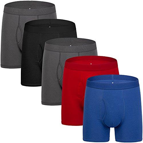 Colourful Boxer Briefs Mens Underwear Cotton Mens Boxer Briefs For Men Pack Of 5 L