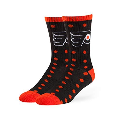 OTS NHL Philadelphia Flyers Male Lucelle Sport Socks, Black, Medium