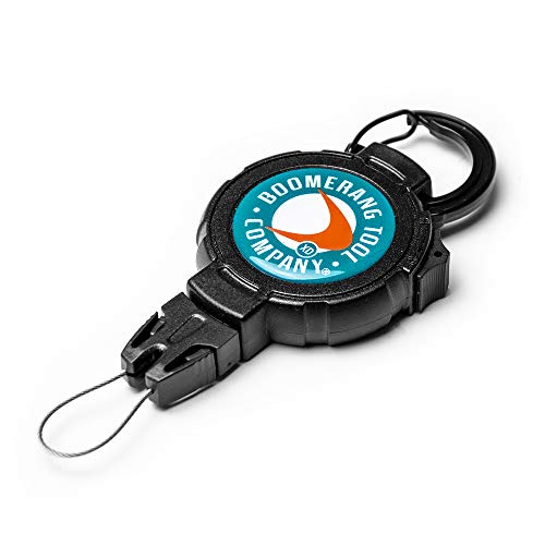 Boomerang Fishing XD Retractable Gear Tether, Carabiner, 36