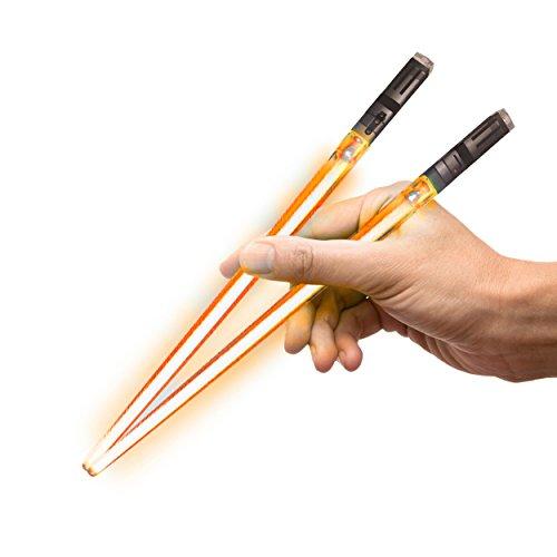 Lightsaber Orange (Chop Sabers Light Up Lightsaber Chopsticks, 1 Pair, Orange)