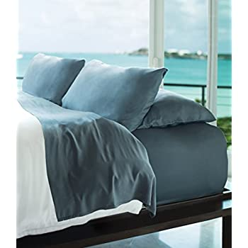 788108aef5f Cariloha Resort Bamboo Sheets by 4 Piece bed Sheet Set - Luxurious Sateen  Weave - 100% Viscose From Bamboo Bedding (Blue Lagoon