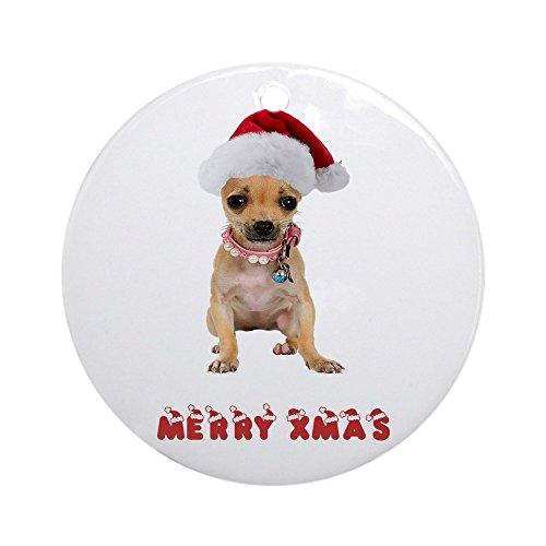 CafePress Christmas Chihuahua Ornament (Round) Round Holiday Christmas Ornament