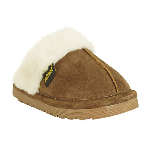 Price comparison product image Old Friend Bobcat Kids Youth Slipper Chocolate