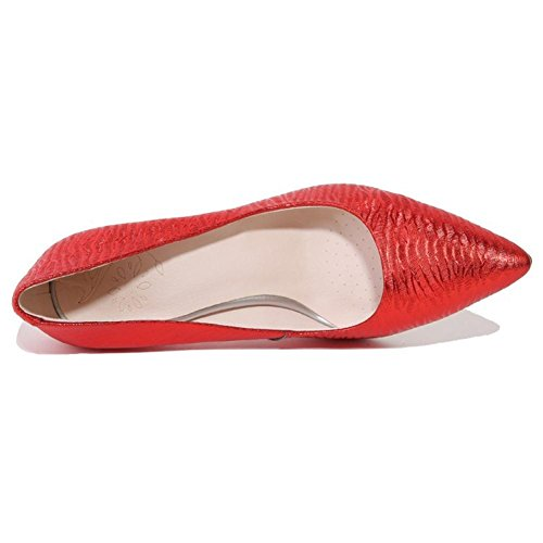 Argent Pied Rouge Doigt Cheville Tribunal Haute Robe Mode Grand Talons Chaussures RED Pointu EUR35UK3 35 de Femmes Stylet Fête 44 Pompes Taille NVXIE 7xwPXq0t