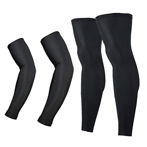 Arsuxeo Unisex Sports Running Cycling Armwarmers+Leg Warmers (L, ()