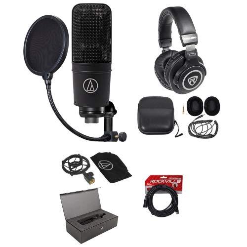 Audio Technica AT4040 Studio Condenser Microphone+Headphones+Pop Filter+Cable Audio Technica At4040 Large Diaphragm
